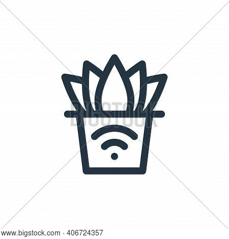 smart farm icon isolated on white background from internet of things collection. smart farm icon thi