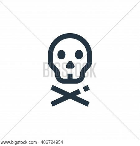 skull icon isolated on white background from medical collection. skull icon thin line outline linear