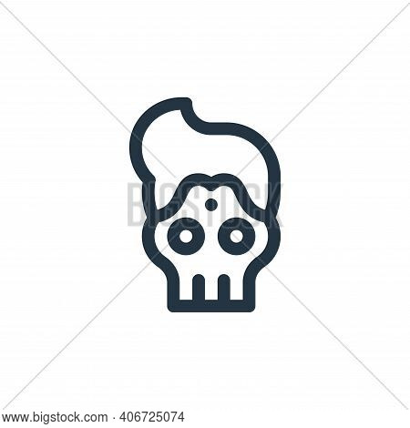 skull icon isolated on white background from cinco de mayo collection. skull icon thin line outline