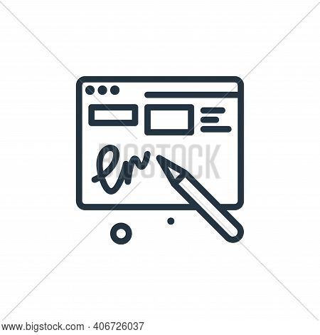 sign icon isolated on white background from work from home collection. sign icon thin line outline l