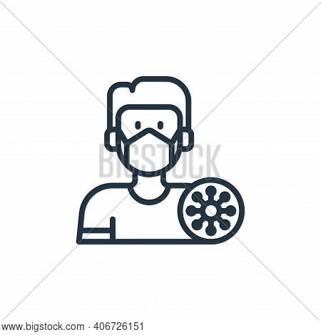 sick icon isolated on white background from coronavirus collection. sick icon thin line outline line