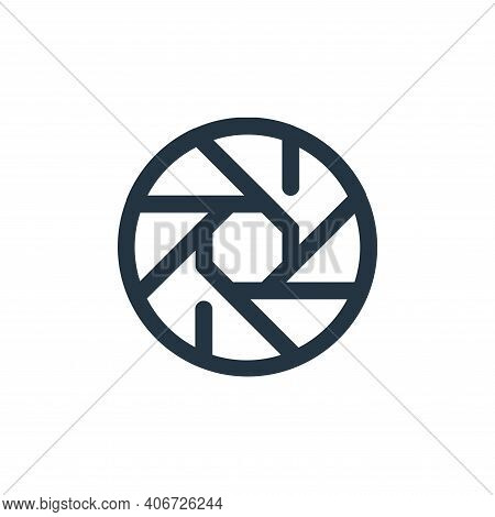 shutter icon isolated on white background from video collection. shutter icon thin line outline line