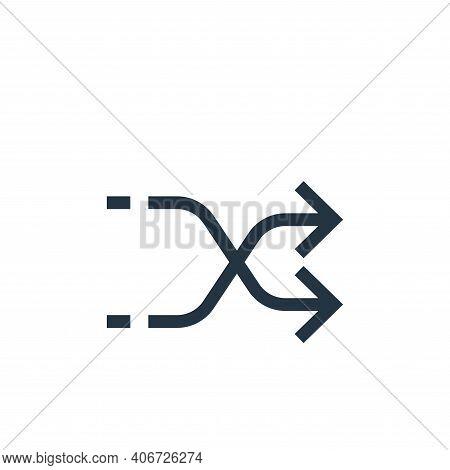 shuffle arrows icon isolated on white background from arrows collection. shuffle arrows icon thin li