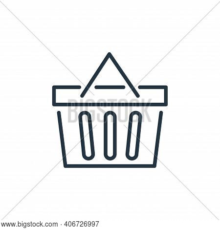 shopping basket icon isolated on white background from ecommerce collection. shopping basket icon th