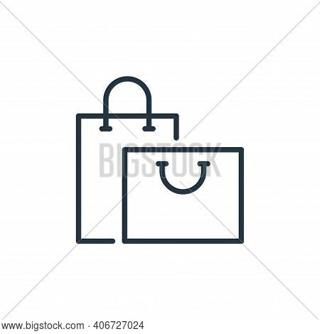 shopping bags icon isolated on white background from ecommerce collection. shopping bags icon thin l