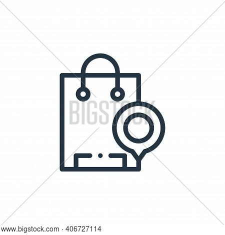 shopping bag icon isolated on white background from online shopping collection. shopping bag icon th