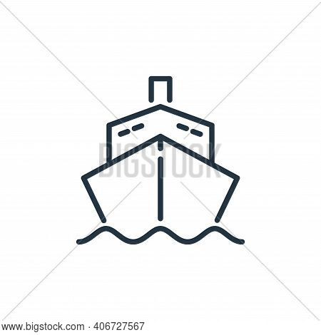 shipping icon isolated on white background from insurance collection. shipping icon thin line outlin