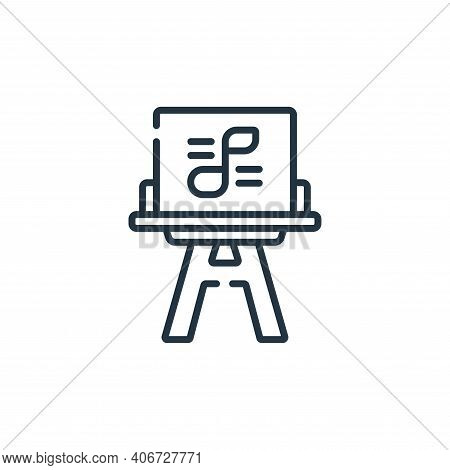sheet music icon isolated on white background from music collection. sheet music icon thin line outl