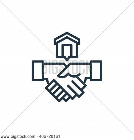Shaking Hands Vector Icon From Work From Home Collection Isolated On White Background