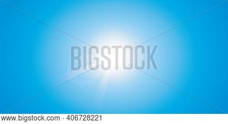Blue Sunny Sky Summer Background Vector Illustration Eps10