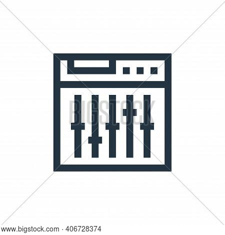 settings icon isolated on white background from rock and roll collection. settings icon thin line ou