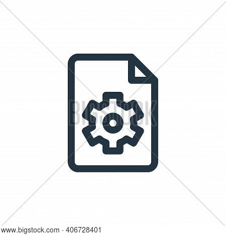 settings icon isolated on white background from document and files collection. settings icon thin li