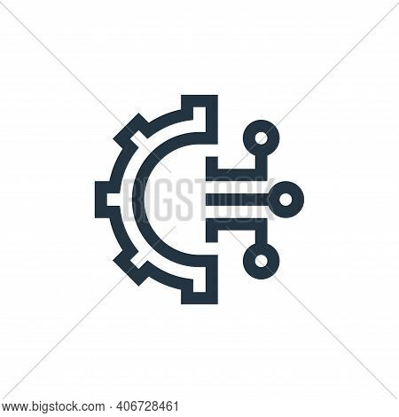 settings icon isolated on white background from manufacturing collection. settings icon thin line ou