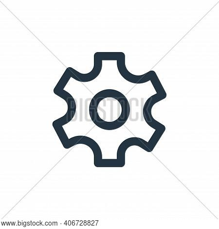 setting icon isolated on white background from basic ui collection. setting icon thin line outline l