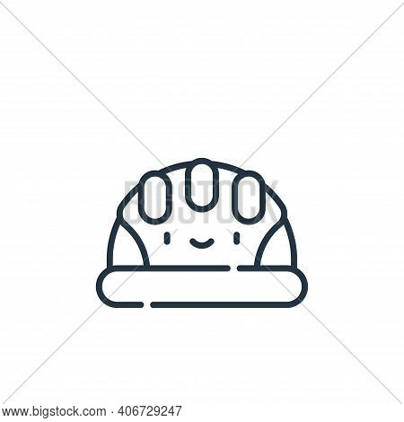 security helmet icon isolated on white background from electrician tools and elements collection. se