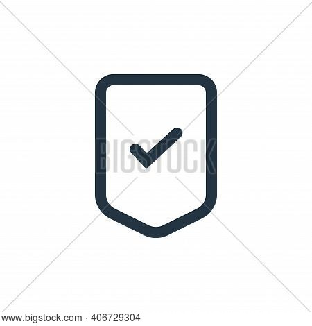 security icon isolated on white background from interface collection. security icon thin line outlin