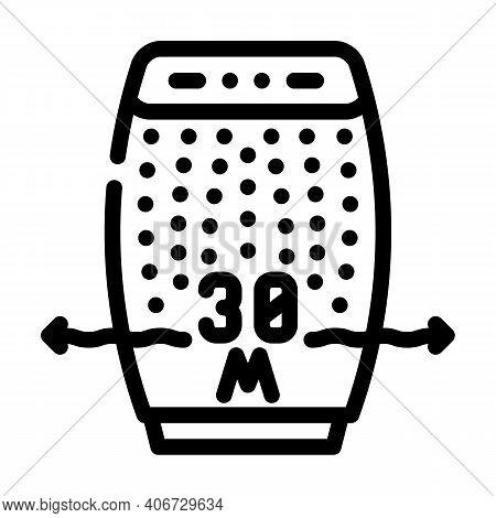 Radius Air Cleaning Line Icon Vector Illustration
