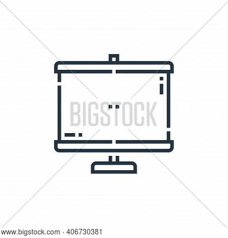 screen icon isolated on white background from videoblogger collection. screen icon thin line outline