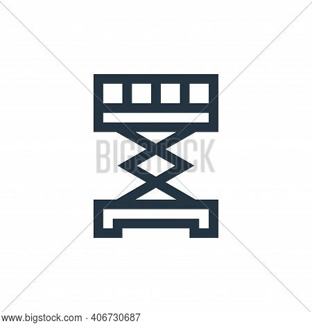 scissor lift icon isolated on white background from industrial process collection. scissor lift icon