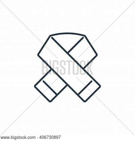 scarf icon isolated on white background from clothes and outfit collection. scarf icon thin line out