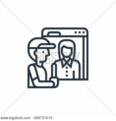 scanning icon isolated on white background from railway collection. scanning icon thin line outline