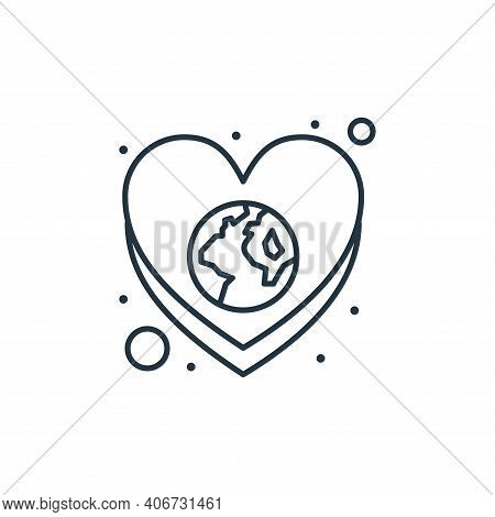 save the world icon isolated on white background from earth day collection. save the world icon thin