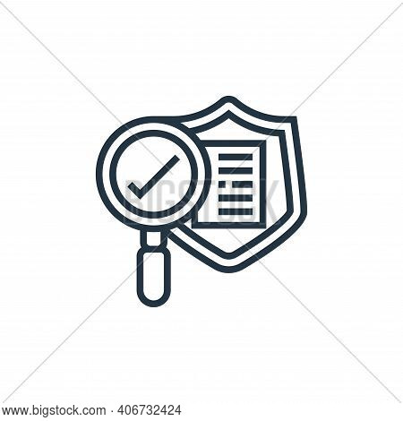safety icon isolated on white background from confidential information collection. safety icon thin