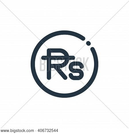 rupee symbol icon isolated on white background from currency collection. rupee symbol icon thin line