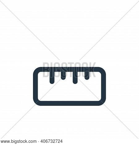 ruler icon isolated on white background from device collection. ruler icon thin line outline linear