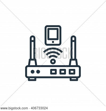 router icon isolated on white background from hotel collection. router icon thin line outline linear
