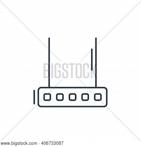 router icon isolated on white background from network and database collection. router icon thin line
