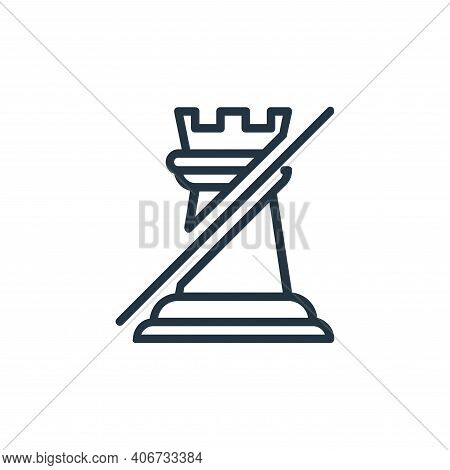 rook icon isolated on white background from chess game collection. rook icon thin line outline linea