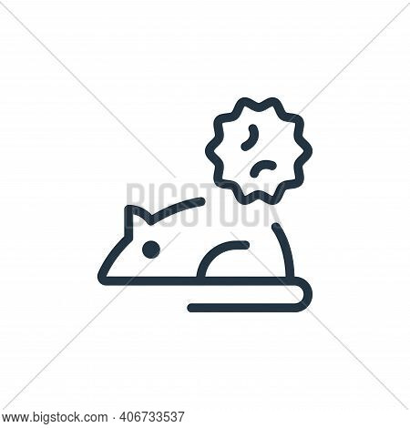 Rodent icon isolated on white background from coronavirus collection. Rodent icon thin line outline