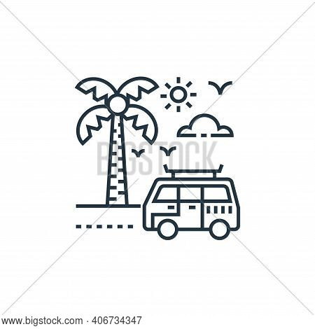 road trip icon isolated on white background from tourism collection. road trip icon thin line outlin