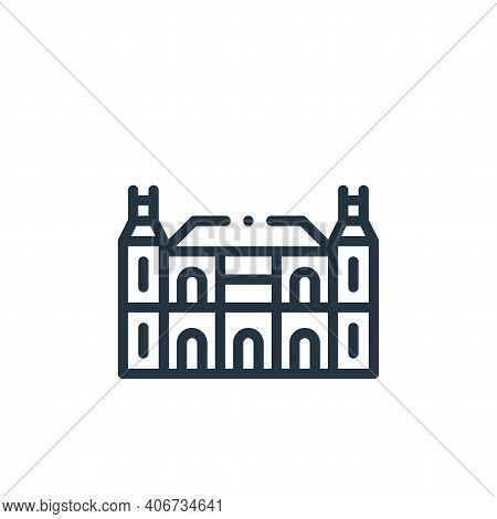 rijksmuseum icon isolated on white background from holland collection. rijksmuseum icon thin line ou
