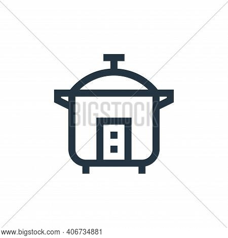 rice cooker icon isolated on white background from electronics collection. rice cooker icon thin lin