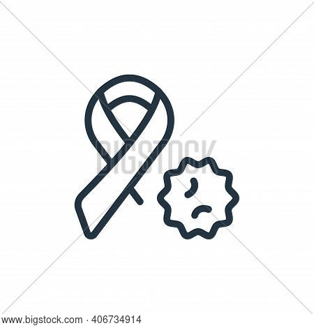 ribbon icon isolated on white background from coronavirus collection. ribbon icon thin line outline