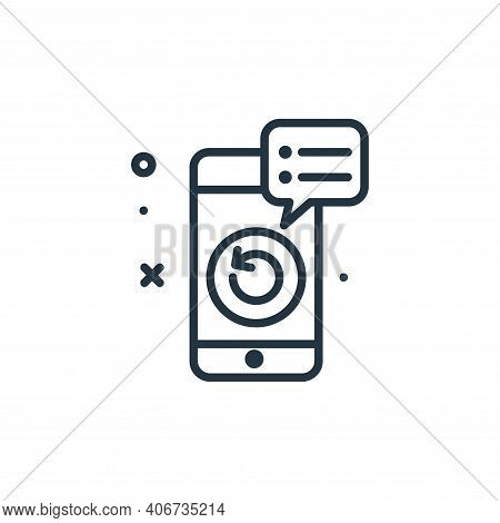 revision icon isolated on white background from work from home collection. revision icon thin line o