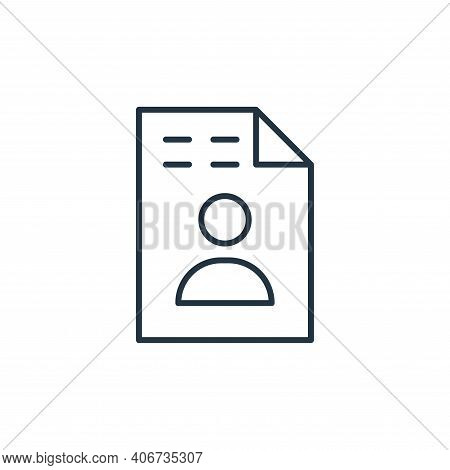 resume icon isolated on white background from leadership collection. resume icon thin line outline l