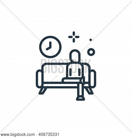 rest time icon isolated on white background from work from home collection. rest time icon thin line