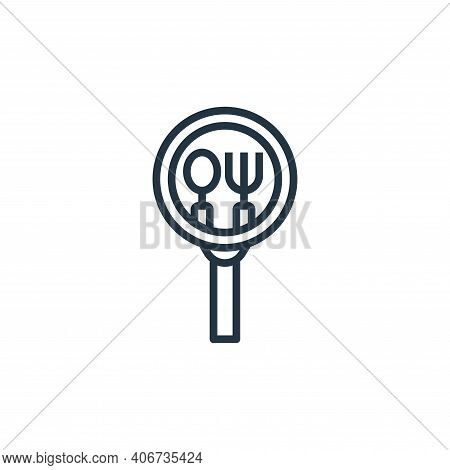 restaurant icon isolated on white background from motorway collection. restaurant icon thin line out