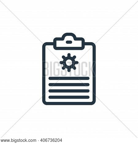 report icon isolated on white background from coronavirus collection. report icon thin line outline