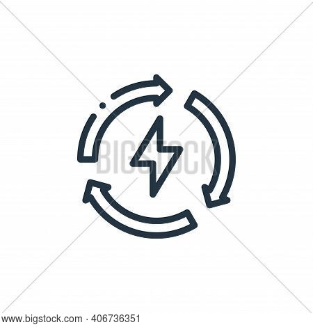 renewable icon isolated on white background from ecology collection. renewable icon thin line outlin