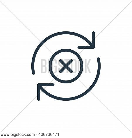 remove icon isolated on white background from data transfer collection. remove icon thin line outlin