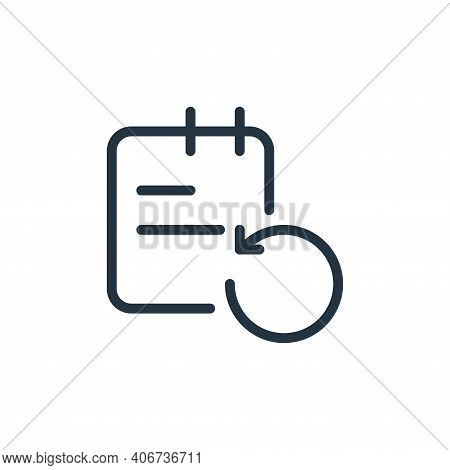 reload icon isolated on white background from work office supply collection. reload icon thin line o