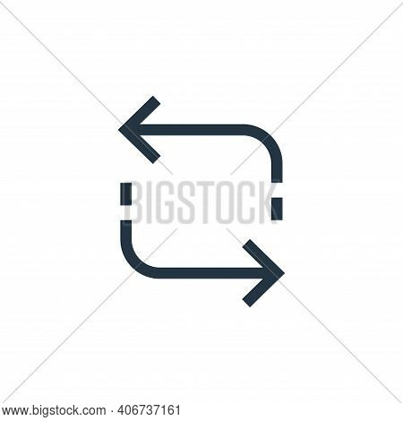 refresh icon isolated on white background from arrows collection. refresh icon thin line outline lin