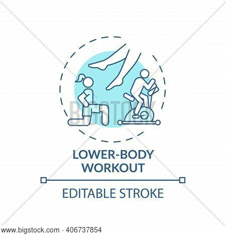 Lower-body Workout Concept Icon. Physical Training Type Idea Thin Line Illustration. Tightening Abdo