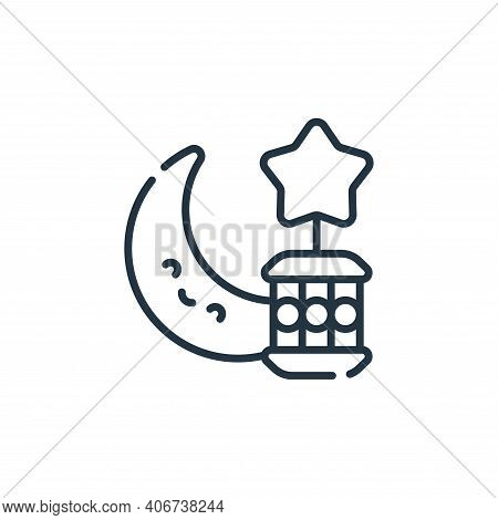 ramadan icon isolated on white background from ramadan collection. ramadan icon thin line outline li