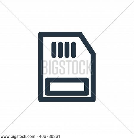 ram icon isolated on white background from multimedia collection. ram icon thin line outline linear