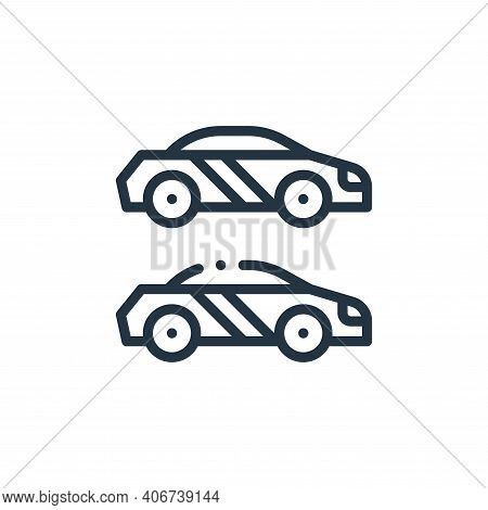 race icon isolated on white background from autoracing collection. race icon thin line outline linea